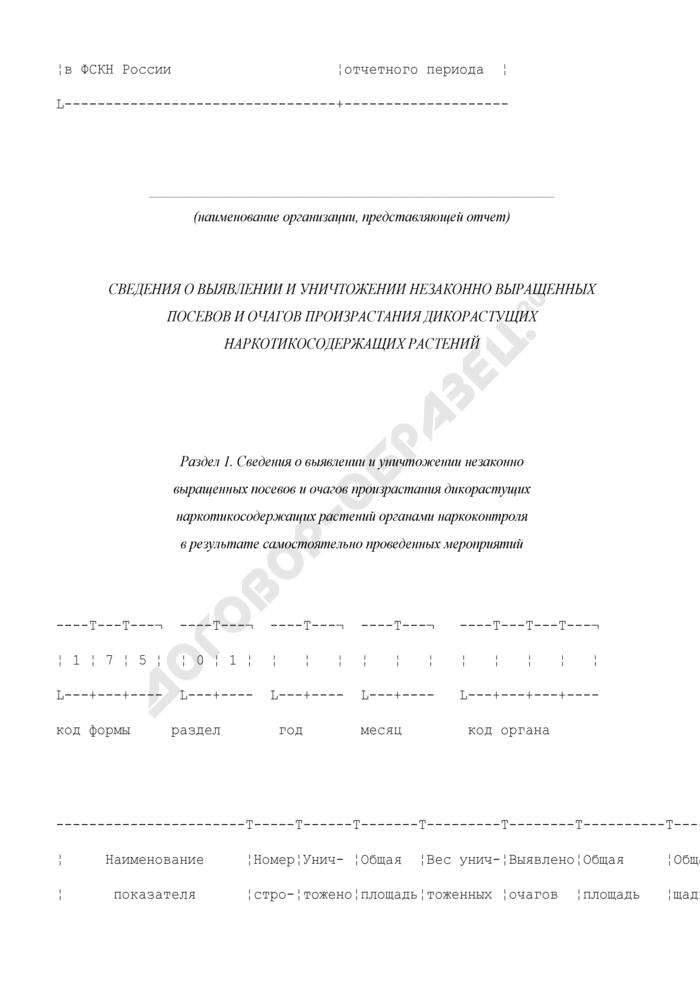 Сведения о выявлении и уничтожении незаконно выращенных посевов и очагов произрастания дикорастущих наркотикосодержащих растений. Форма N 5-МВ-НОН. Страница 2
