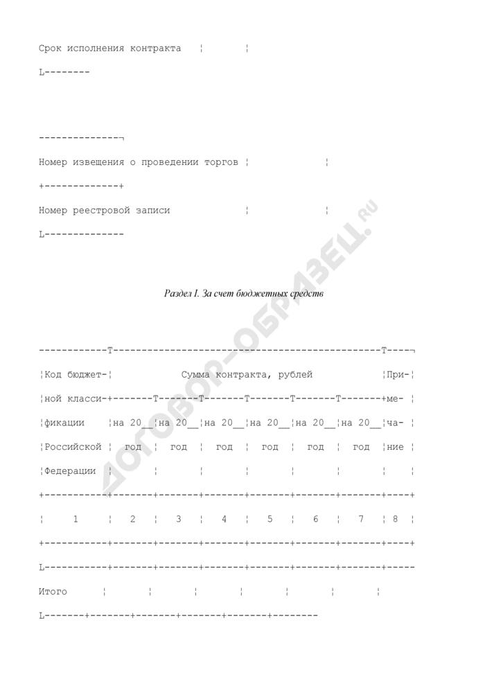 Сведения о государственном контракте (его изменении), заключенном государственным заказчиком. Форма N 1. Страница 3