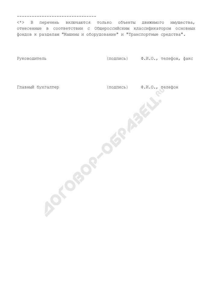 Сведения о движимом имуществе территориальных органов и организаций, находящихся в ведении Рослесхоза. Страница 2