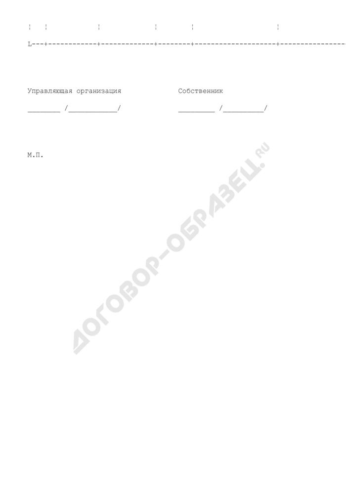 Сведения о доле собственника в помещении по правоустанавливающему документу (приложение к примерному договору управления многоквартирным домом). Страница 2