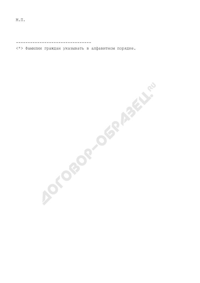 Сведения о зарегистрированных по месту жительства гражданах Российской Федерации в связи с рождением. Форма N 1. Страница 2