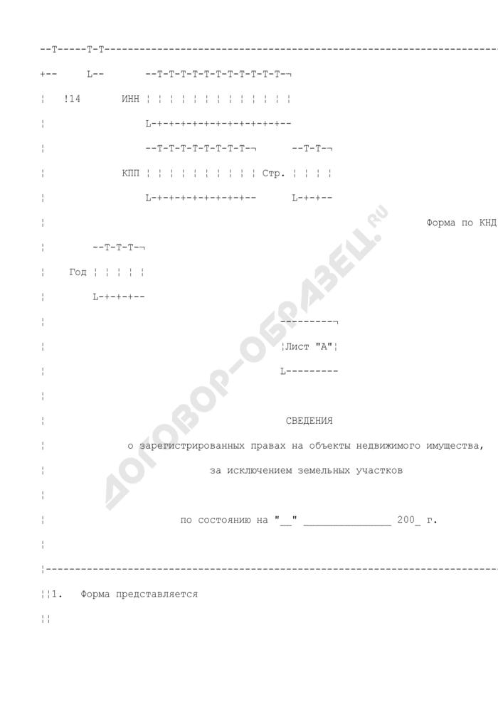 Сведения о зарегистрированных правах на объекты недвижимого имущества, за исключением земельных участков. Страница 1