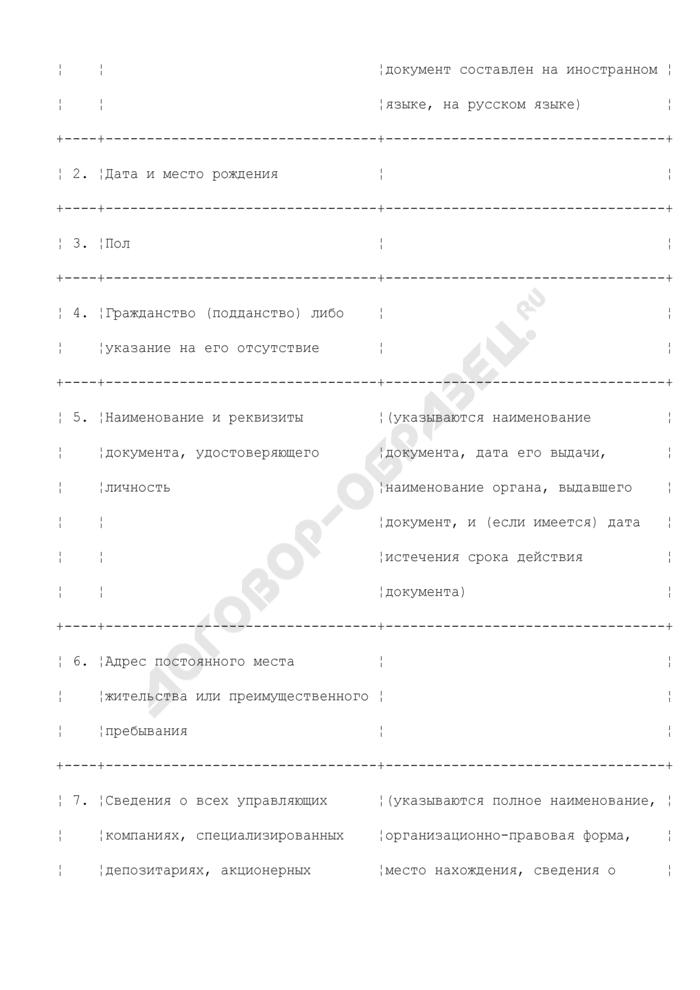 Сведения о контролере (руководителе и сотрудниках службы внутреннего контроля) соискателя лицензии на осуществление деятельности по управлению инвестиционными фондами, паевыми инвестиционными фондами и негосударственными пенсионными фондами или на осуществление деятельности специализированного депозитария инвестиционных фондов, паевых инвестиционных фондов и негосударственных пенсионных фондов. Страница 2