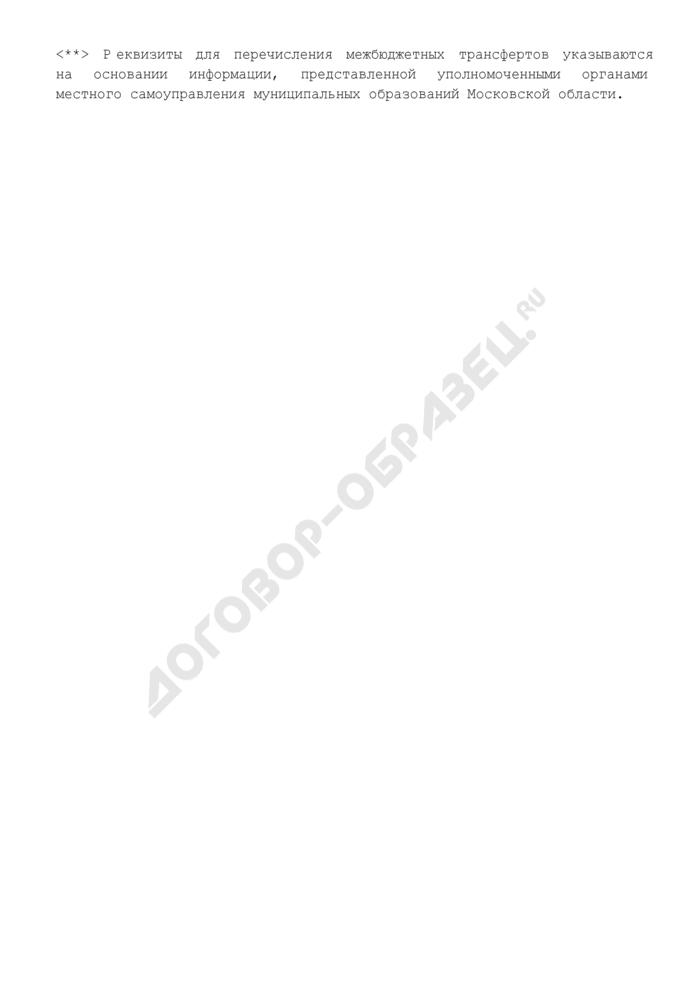 Сведения о наличии документов для перечисления средств из резервного фонда муниципального образования Московской области. Страница 3