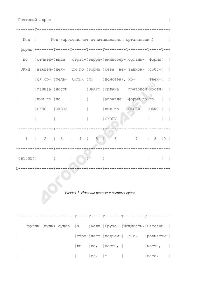 Сведения о наличии речных и озерных судов Российской Федерации. Форма N 25-ВТ. Страница 3