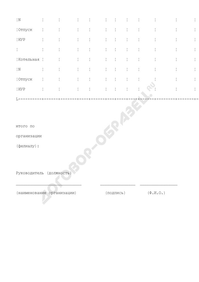 Сводная таблица результатов расчетов нормативов удельных расходов топлива на отпущенную отопительными (производственно-отопительными) котельными тепловую энергию в Минэнерго России (образец). Страница 2