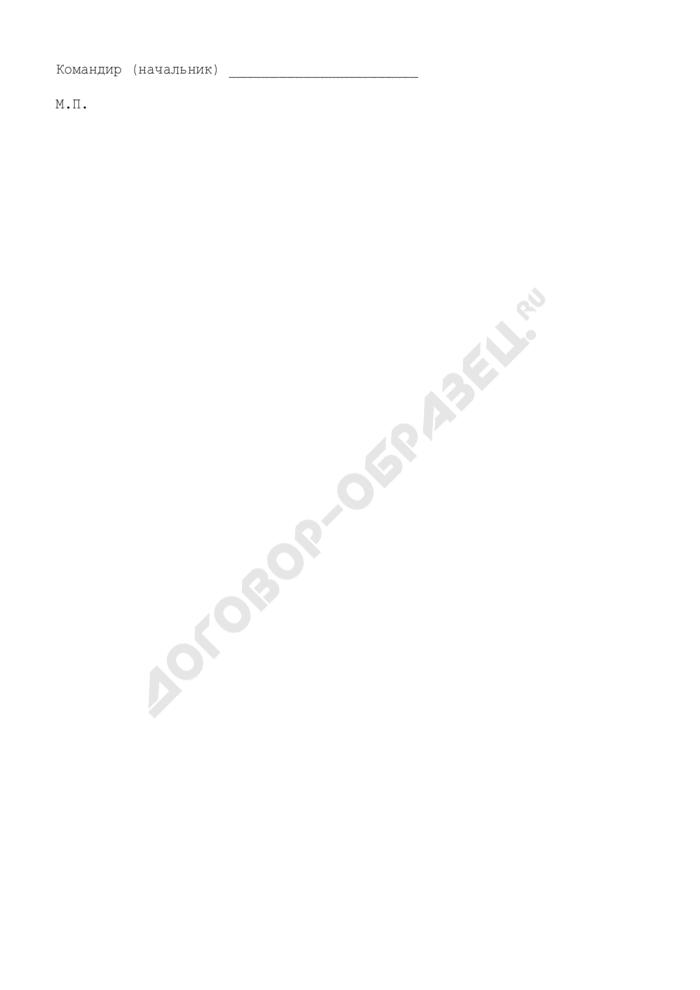 Форма удостоверения парашютиста. Страница 2