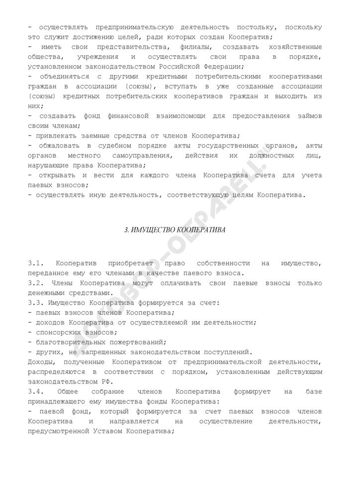 Устав кредитного потребительского кооператива граждан (органы управления: общее собрание, правление, директор, ревизионная комиссия, комитет по займам). Страница 3
