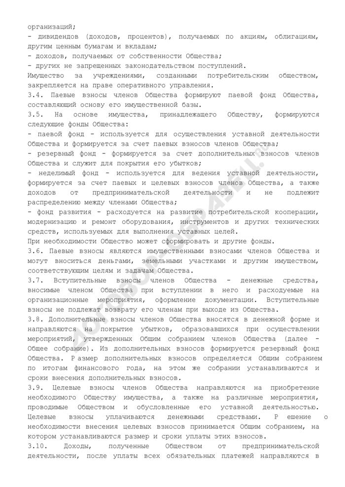 Устав потребительского общества. Страница 3