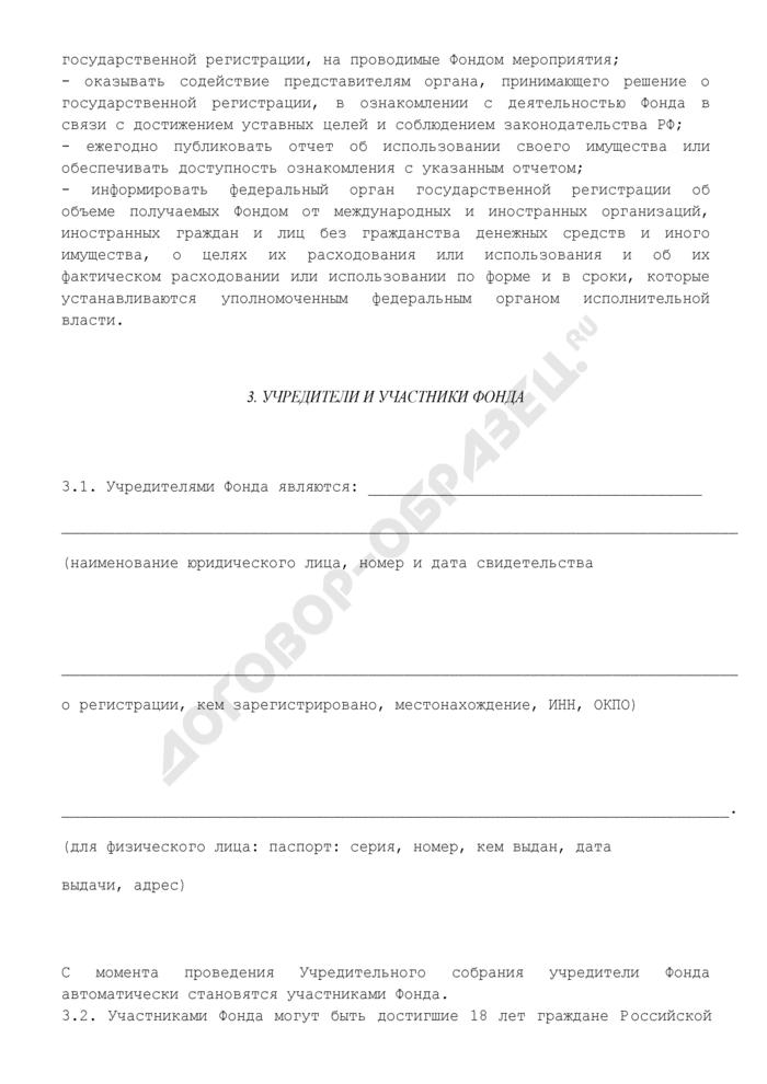 Устав регионального общественного фонда содействия развитию. Страница 3