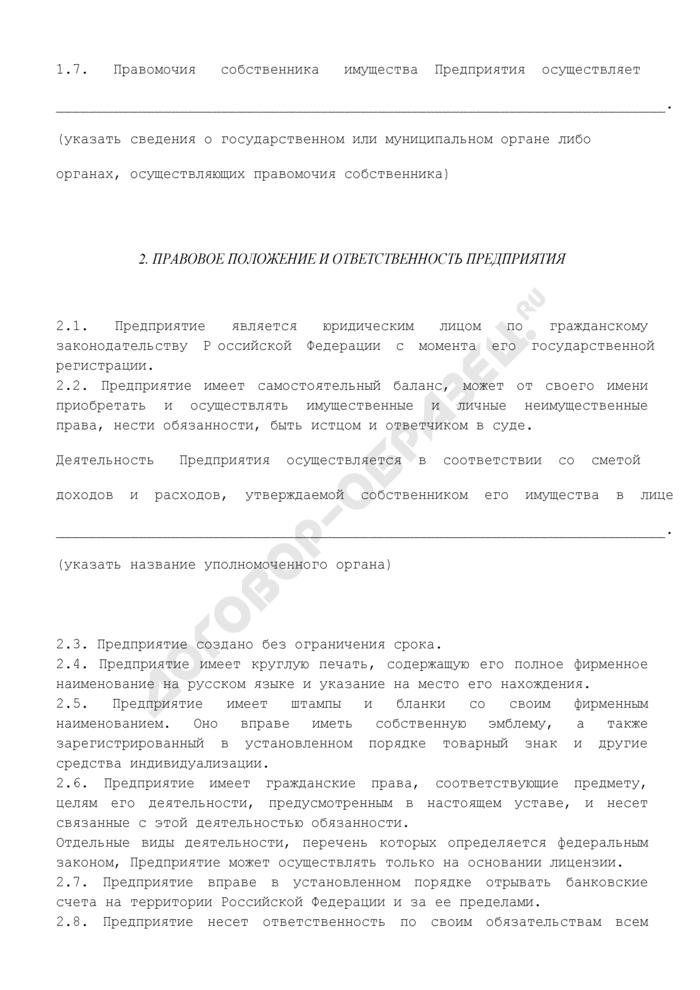 Устав унитарного предприятия. Страница 3