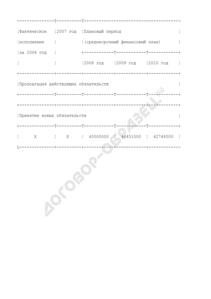 Справка-уведомление главного распорядителя бюджетных средств о принятом расходном обязательстве. Страница 2