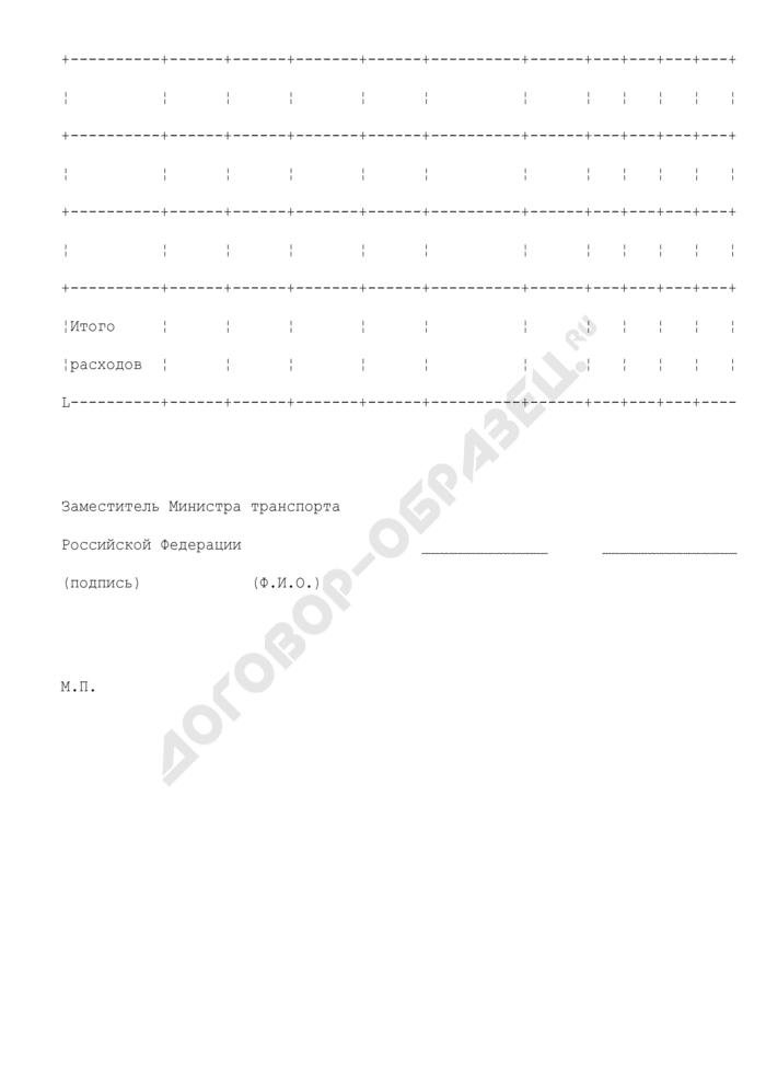 Уведомление о бюджетных ассигнованиях из федерального бюджета на финансирование содержания представительств Российской Федерации при Международной морской организации и при Международной организации гражданской авиации. Страница 2