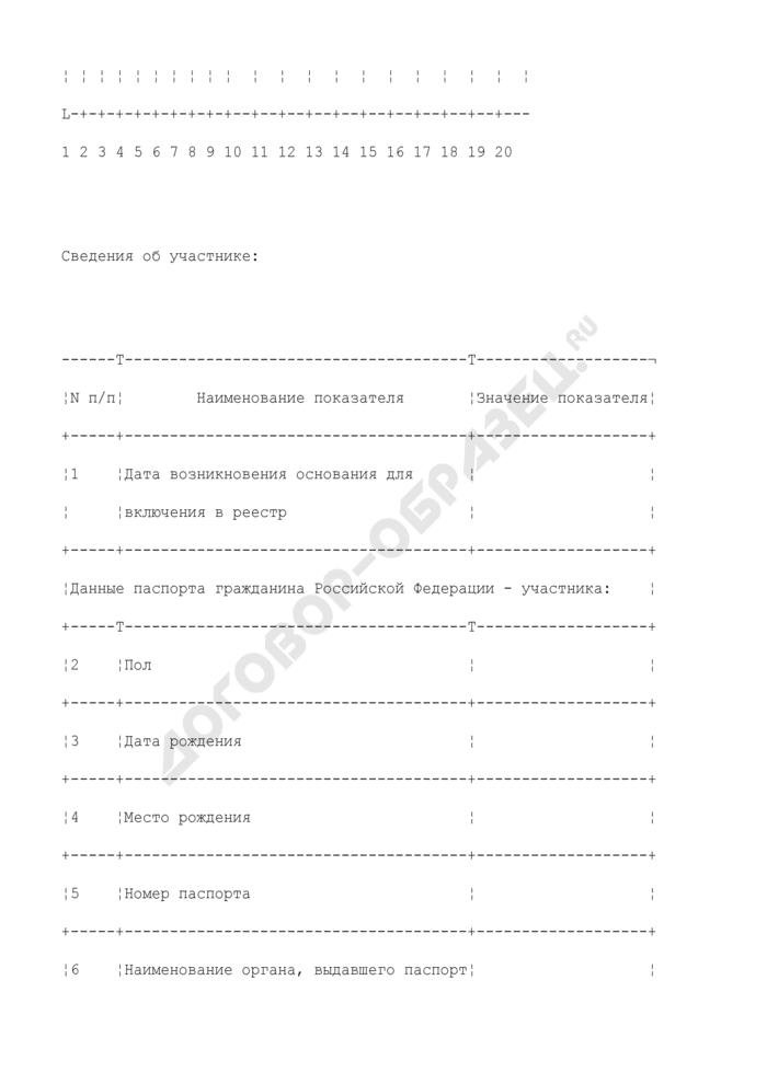 Уведомление о включении (исключении) военнослужащего в (из) реестр(а) накопительно-ипотечной системы жилищного обеспечения. Форма N 1/НИС. Страница 2