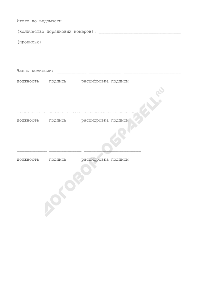 """Ведомость N 1 """"Исключительные права организации на результаты научно-технической деятельности"""" (рекомендуемая форма). Страница 2"""