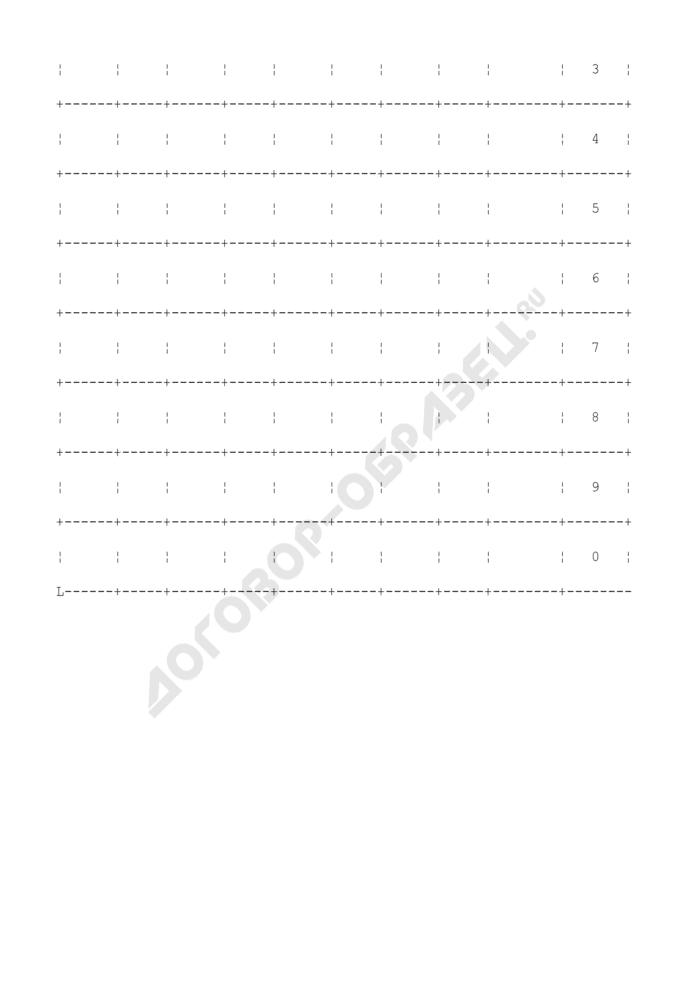 Оборотная ведомость по товарно-материальным счетам. Форма N М-44. Страница 3