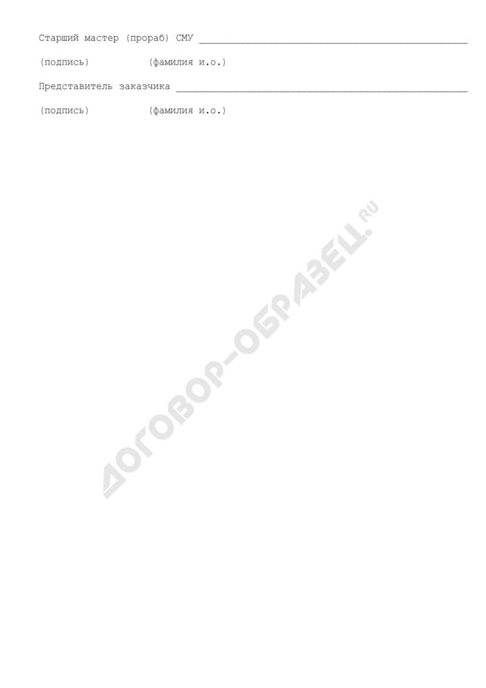 Укладочная ведомость строительных длин кабелей. Форма N 24. Страница 2