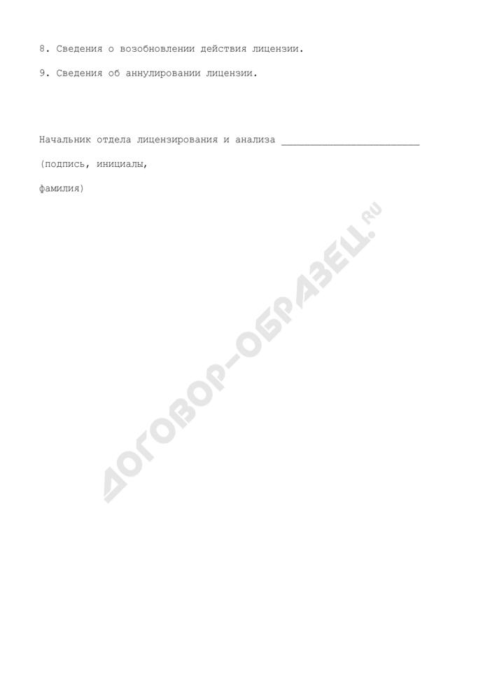 Выписка из реестра лицензий на осуществление деятельности в области железнодорожного транспорта (при осуществлении перевозок железнодорожным транспортом грузов). Страница 2