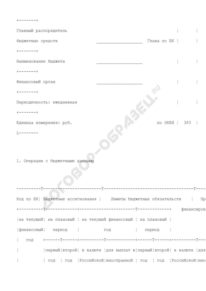 Приложение к выписке из лицевого счета иного получателя бюджетных средств. Страница 2