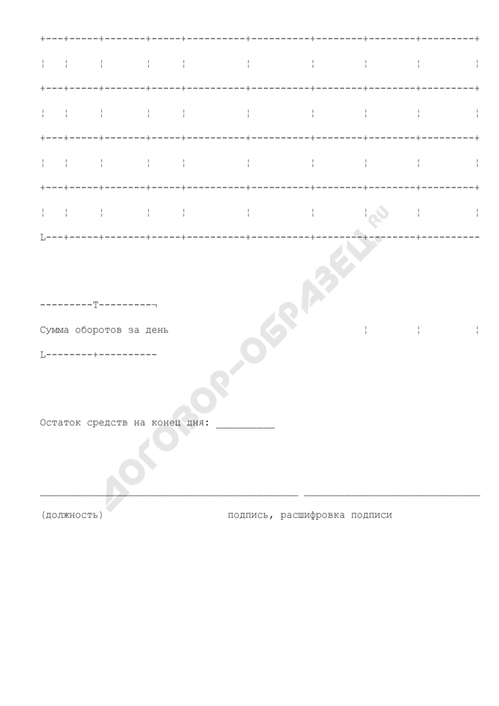 Выписка из лицевого счета для учета операций со средствами, поступающими во временное распоряжение бюджетных учреждений Московской области. Страница 3