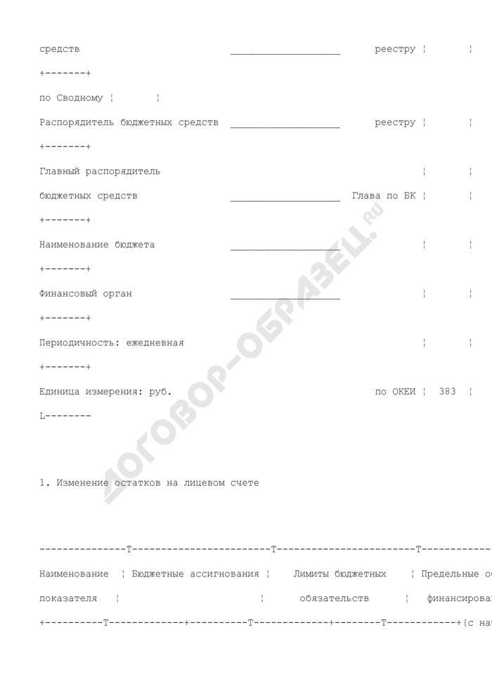 Выписка из лицевого счета иного получателя бюджетных средств. Страница 2