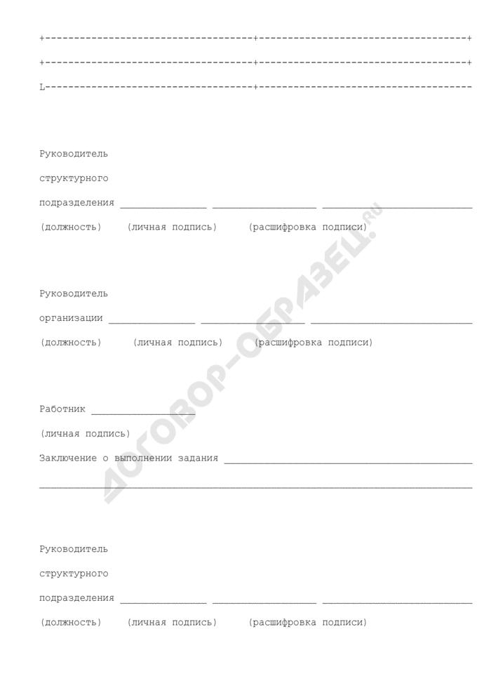 Служебное задание для направления в командировку служащего Росимущества и отчет о его выполнении. Страница 3