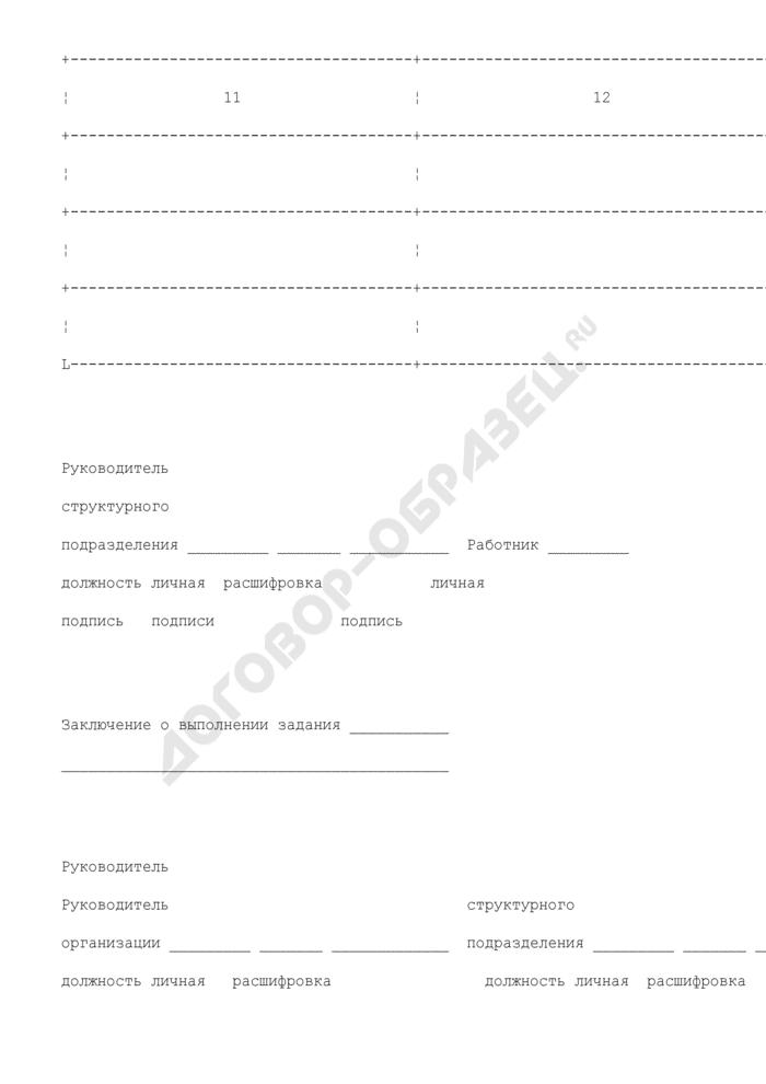 Служебное задание для направления в командировку и отчет о его выполнении. Унифицированная форма N Т-10А. Страница 3
