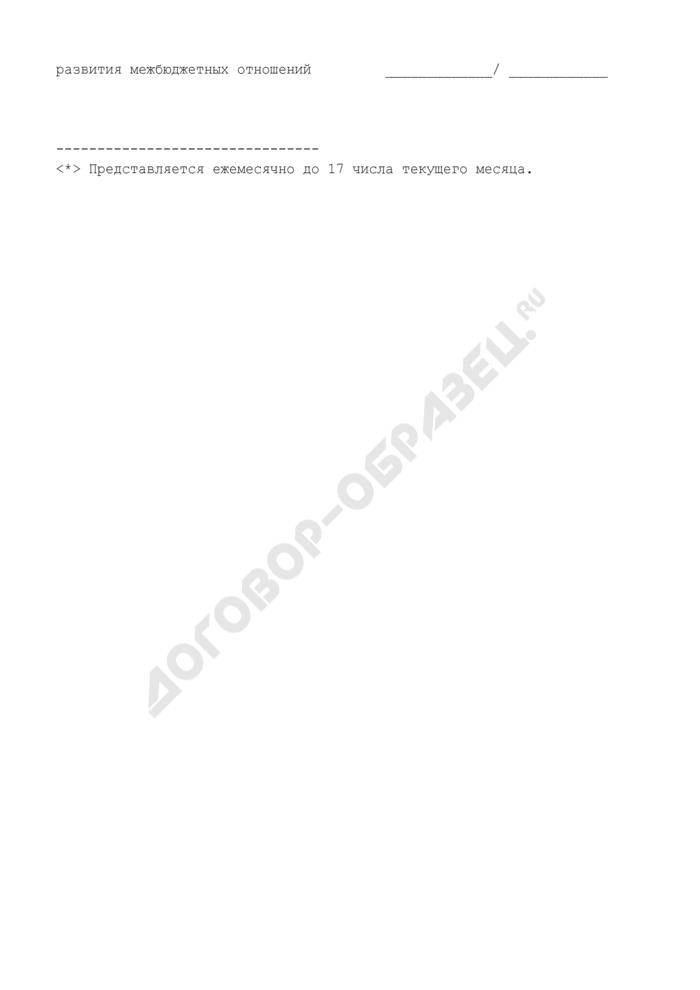 Заявка на перечисление субсидий на развитие социальной и инженерной инфраструктуры субъектов Российской Федерации и муниципальных образований. Страница 2