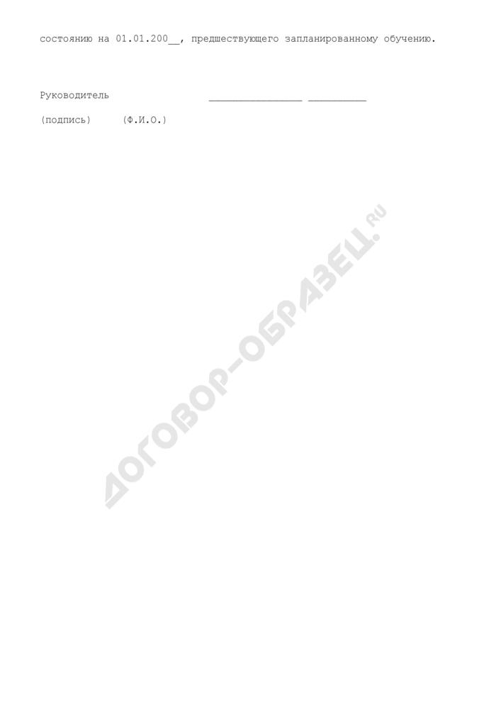 Заявка на повышение квалификации муниципальных служащих администрации городского округа Электросталь Московской области. Страница 2