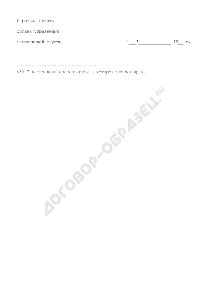 Заказ-заявка на поставку радиоактивных веществ и других источников ионизирующих излучений. Страница 3