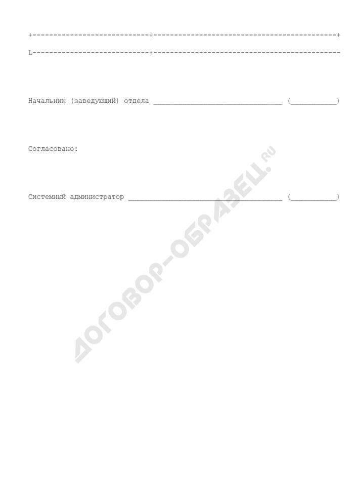 Заявка на регистрацию (модификацию) полномочий пользователя баз данных органов и организаций Роспотребнадзора в субъектах Российской Федерации. Страница 2