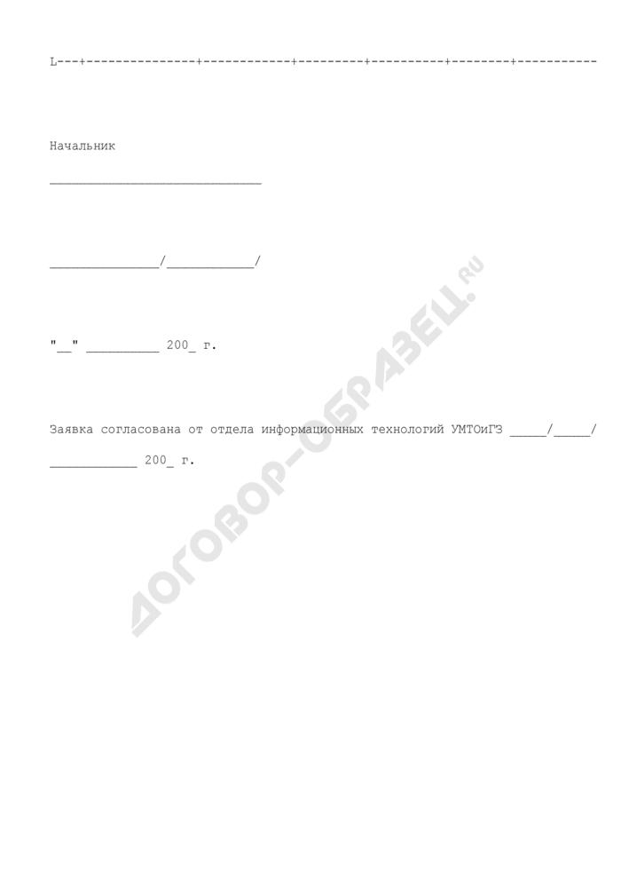 Заявка на установку (замену) и ремонт (модернизацию) программно-технических средств структурного подразделения центрального аппарата Росимущества. Страница 2