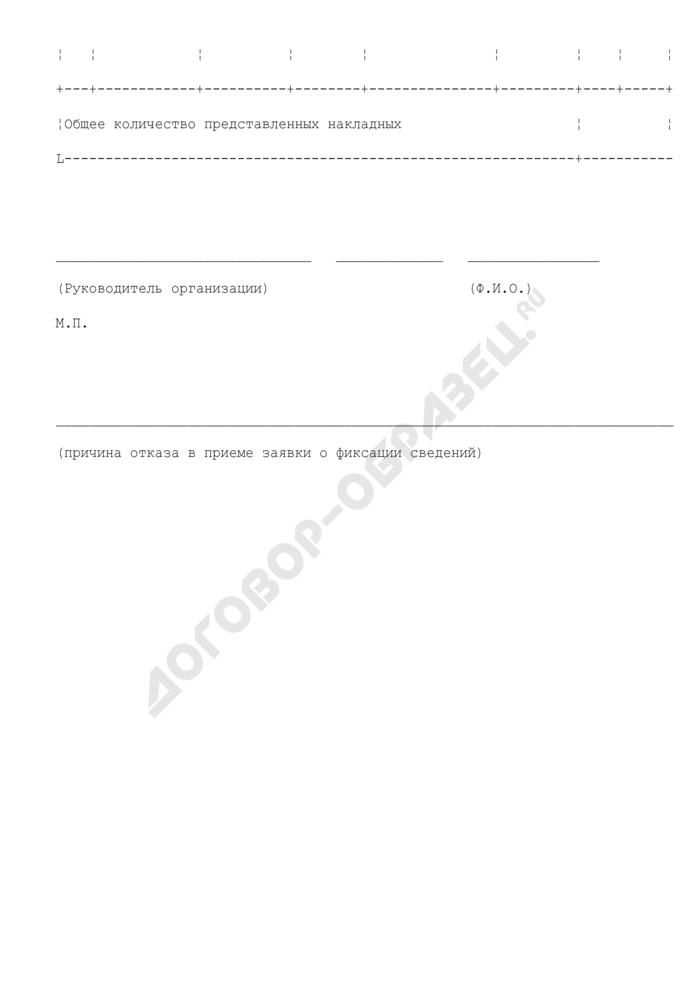 Заявка о фиксации в единой государственной автоматизированной информационной системе сведений об объеме оборота этилового спирта, алкогольной и спиртосодержащей продукции. Страница 3