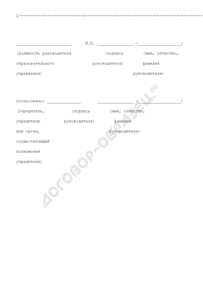 Заявление о государственной аккредитации высшего учебного заведения. Страница 3