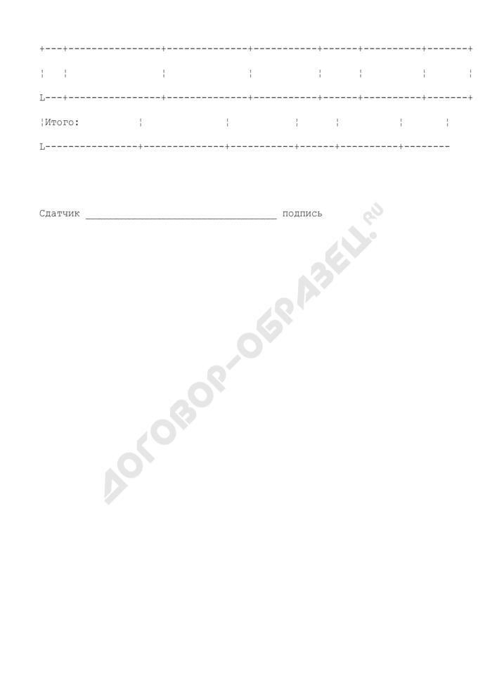 Заявление о приеме ценностей для опробования (анализа и клеймения или других пробирных работ). Форма N 1а. Страница 2