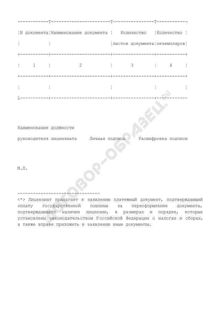 Заявление о продлении срока действия лицензии на осуществление деятельности. Страница 3