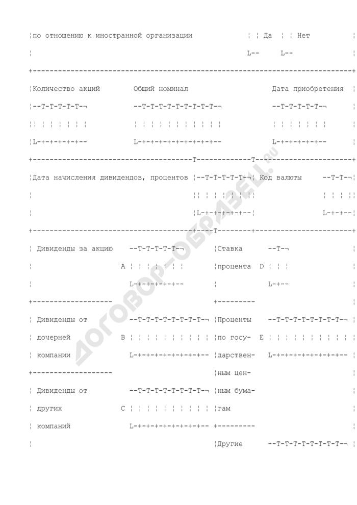 Приложение к заявлению иностранной организации на возврат сумм налогов, удержанных с доходов от источников в Российской Федерации (к форме 1012DT(2002)). Страница 2