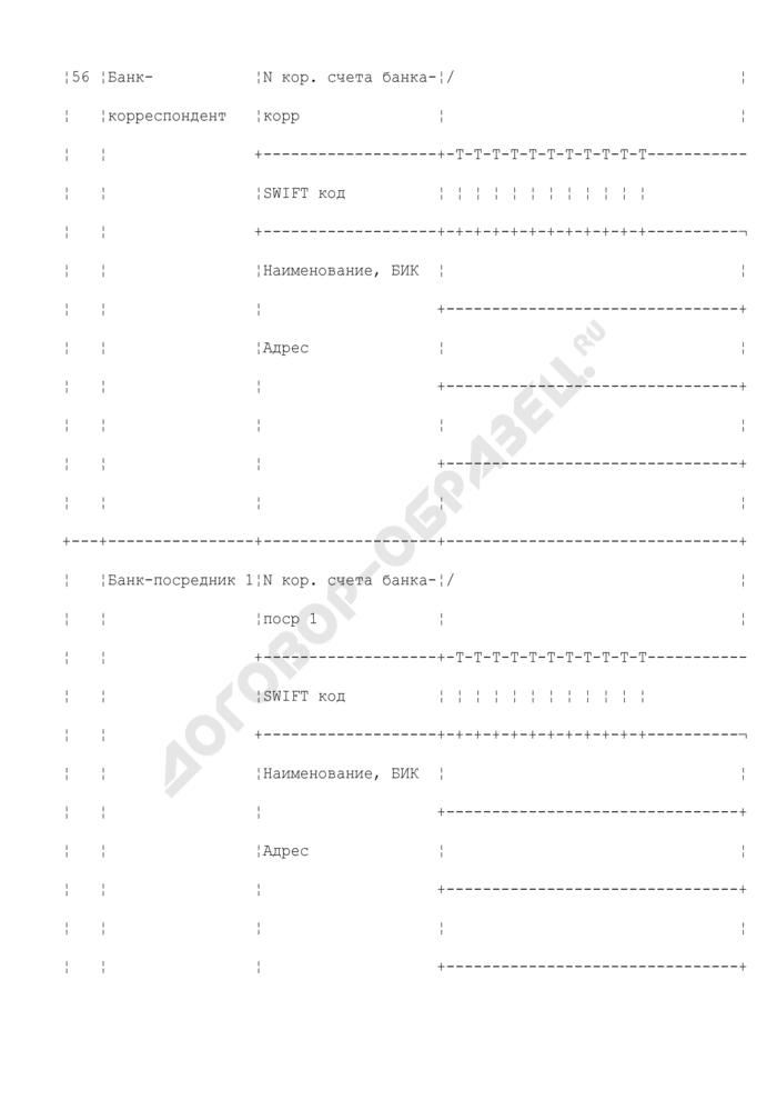 Заявление на перевод счетов в соответствии с валютой платежа. Страница 3