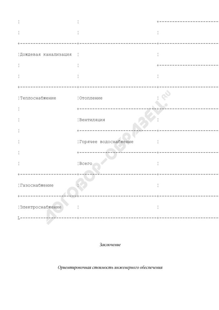Заключение по инженерному обеспечению объекта с предварительными техническими условиями присоединения. Страница 3