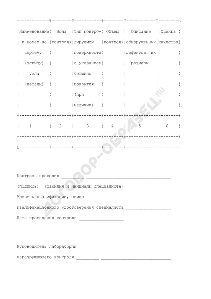 Форма заключения о результатах вихретокового контроля дефектоскопа (рекомендуемая). Страница 2