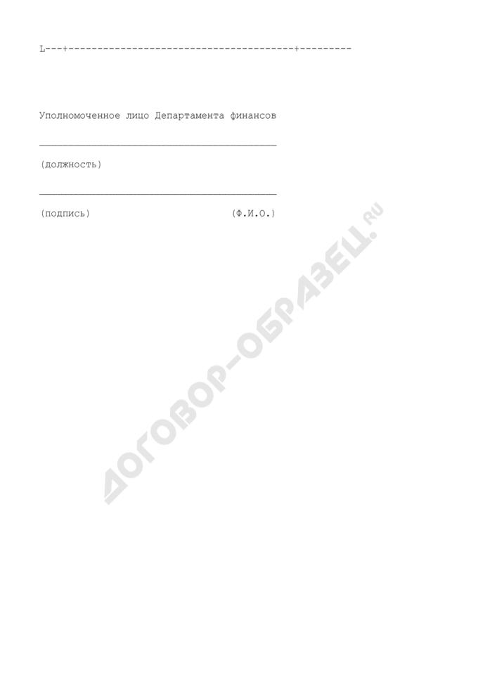 Запрос о сумме денежных средств, предлагаемых для размещения на депозитных счетах (приложение к регламенту взаимодействия Департамента финансов города Москвы и кредитных организаций при размещении временно свободных средств бюджета города Москвы на банковских депозитах). Страница 2