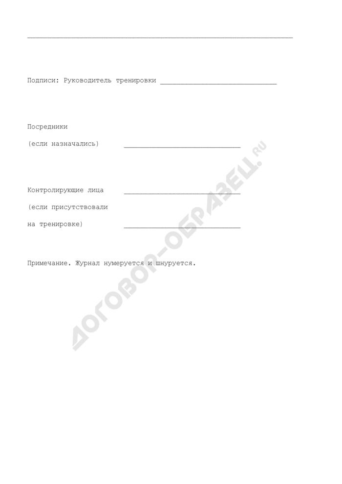 Журнал учета противопожарных тренировок на энергетических предприятиях и в организациях Минэнерго СССР. Страница 2