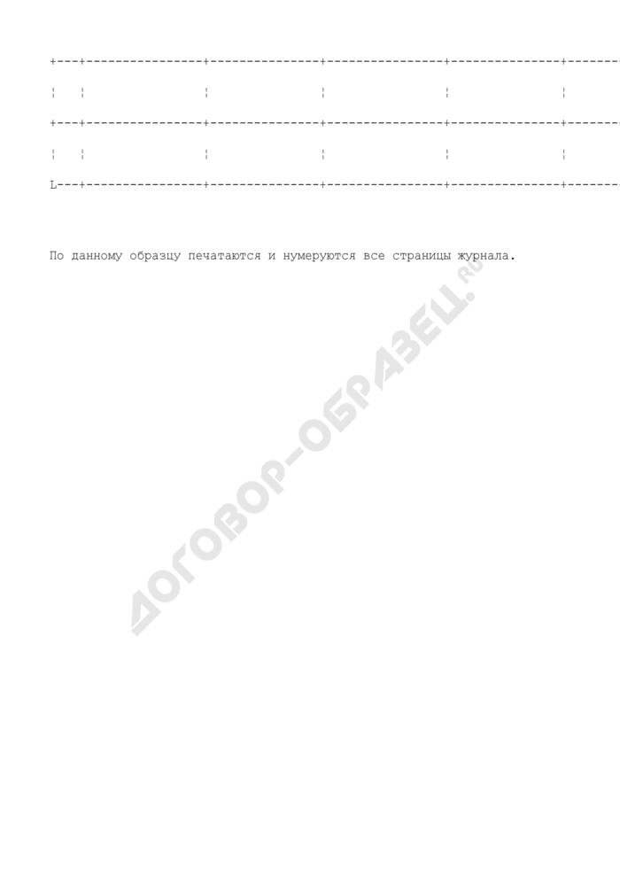 Журнал учета сотрудников органов внутренних дел по Московской области, выезжающих в служебные командировки. Страница 3