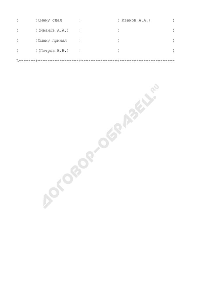 Вахтенный журнал перегрузочной машины. Страница 3