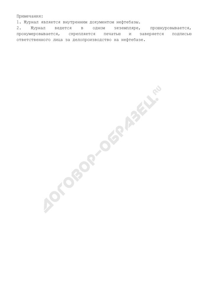 Журнал эксплуатации насосных агрегатов (рекомендуемая форма). Страница 2
