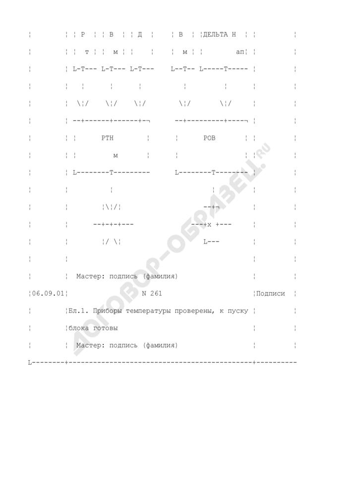 Пример заполнения журнала технологических защит и автоматики в цехах АСУ ТП (ТАИ) тепловых электростанций. Форма N 3 (рекомендуемая). Страница 2