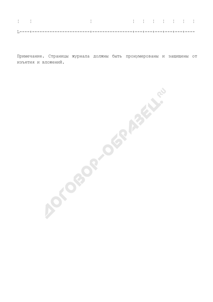 Форма журнала учета проверки знаний норм, правил, инструкций персонала в организациях нефтепродуктообеспечения Российской Федерации. Страница 2