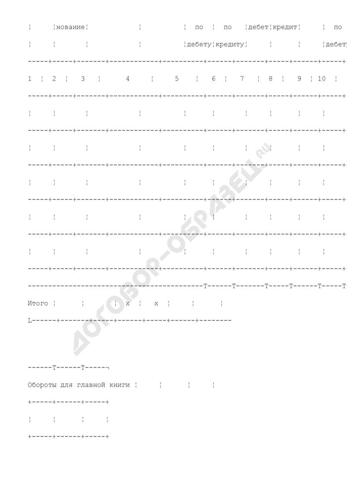 Журнал операций бюджетного учета для ведения бюджетного учета для органов государственной власти Российской Федерации, федеральных государственных учреждений. Страница 2