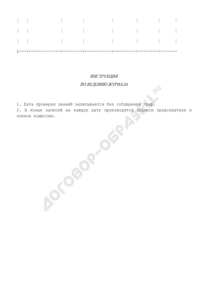 Журнал периодической проверки знаний докеров-механизаторов и рабочих по техническому обслуживанию и ремонту. Страница 2