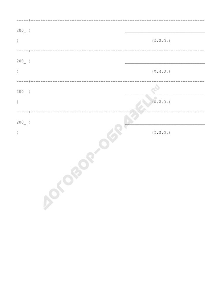 Ведомость (журнал) измерений загнивания деталей деревянных опор на воздушных линиях электропередачи (рекомендуемая форма). Страница 3